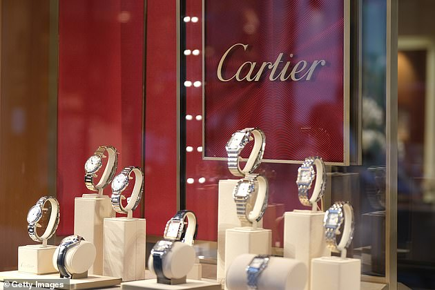 Ms Holgate - who earns $2.6million a year - gave four Cartier watches to well-paid bosses as a reward for clinching a deal to do banking at post offices in 2018 (stock image)