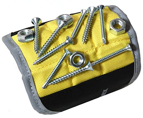 Magnelex Magnetic Wristband for Holding Tools, Screws, Nails, Bolts, Drilling Bits